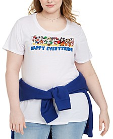 Trendy Plus Size Disney Happy Everything Graphic T-Shirt