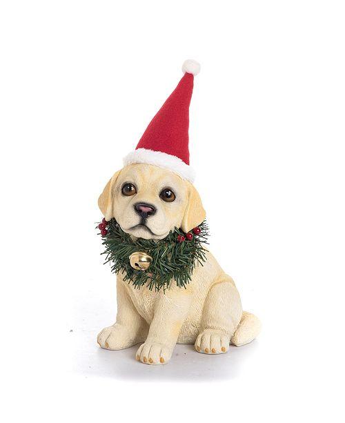 Trans Pac Resin Santa Hat/Wreath Lab Pup