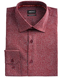 Men's Slim-Fit Performance Stretch Floral Dress Shirt