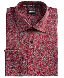 Buffalo David Bitton Men's Slim-Fit Performance Stretch Floral Dress Shirt
