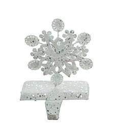Metal White Christmas Rustic Snowflake Stocking Holder - Set of 3
