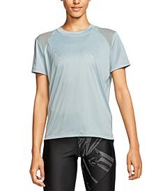 Women's Miler Dri-FIT Metallic-Logo T-Shirt