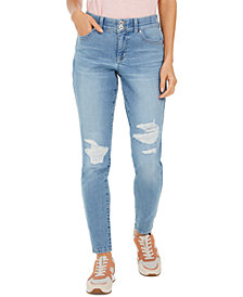 Style & Co Distressed Curvy Jeans, Created For Macy's