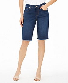 Raw-Edge Denim Bermuda Shorts, Created for Macy's