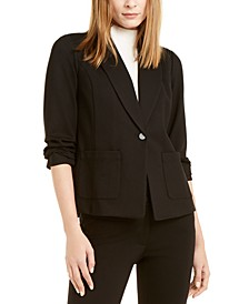 Ruched-Sleeve Blazer Jacket, Created For Macy's