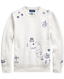 Big Boys Embroidered Cotton Sweater