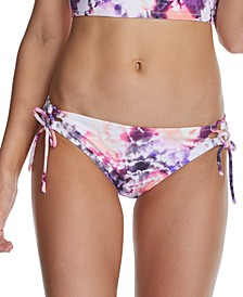 Juniors' Torquay Printed Sweet Side-Tie Hipster Bikini Bottoms, Created for Macy's