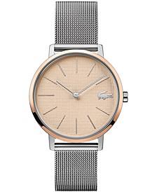 Women's Moon Stainless Steel Mesh Bracelet Watch 35mm