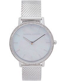 Womens Major Stainless Steel Mesh Bracelet Watch 35MM