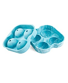 CLOSEOUT! Tie Dye Silicone 4 Piece Ice Mold
