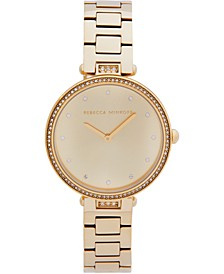 Women's Nina Gold-Tone Stainless Steel Bracelet Watch 33mm
