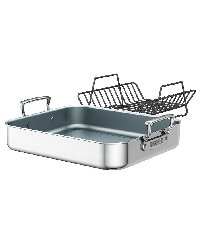 J.A. Henckels - ZWILLING Polished Stainless Steel Ceramic Nonstick Roasting Pan