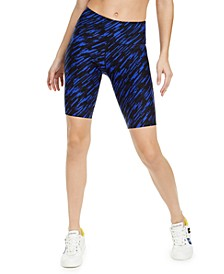 Geo-Print High-Waist Bike Shorts