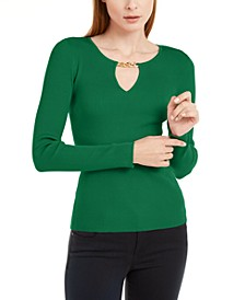 INC Chain-Neck Sweater, Created for Macy's