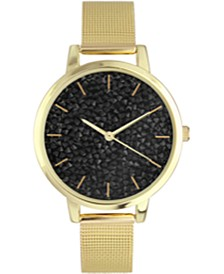 INC Women's Gold-Tone Mesh Bracelet Watch 27mm, Created For Macy's