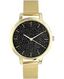 INC Women's Gold-Tone Mesh Bracelet Watch 27mm, Created for Macy's