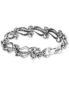 Ornate Link Bracelet in Sterling Silver