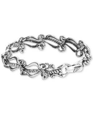 Ornate Link Bracelet in Sterling Silver