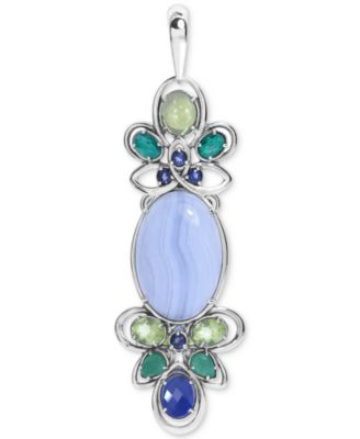 Carolyn Pollack Sterling Silver /& Gemstone Pendant Enhancer