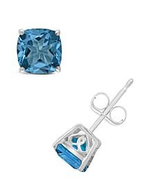 Blue Topaz (2-1/2 ct. t.w.) Stud Earrings in Sterling Silver