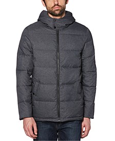 Men's Heathered Puffer Jacket