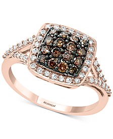 EFFY® Multi-Colored Diamond Cluster Statement Ring (5/8 ct. t.w.) in 14k Rose Gold