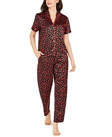 INC Piping-Trim Pajama Set, Created For Macy's