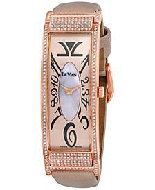 Women's Swiss Diamond (1 3/5 ct. t.w.) Blush Leather Strap Watch 20mm