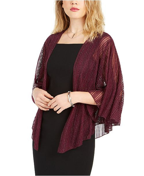 INC International Concepts INC Cropped Metallic Shrug, Created For Macy's