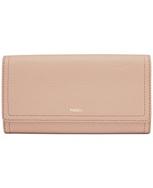 Logan Leather Flap Clutch Wallet