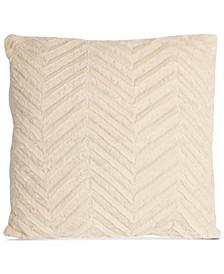 """La Casa Bella Plush Chevron 18"""" x 18"""" Decorative Pillow, Created For Macy's"""