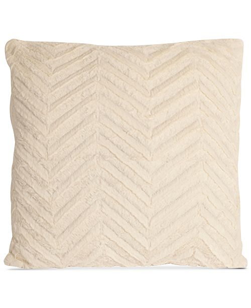 "Mystic Apparel La Casa Bella Plush Chevron 18"" x 18"" Decorative Pillow, Created For Macy's"