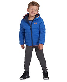 Toddler Boys Reversible Pronto Puffer Hooded Jacket