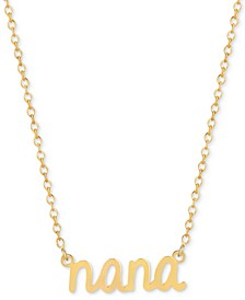 Nana Adjustable Pendant Necklace in 14k Gold-Plated Sterling Silver