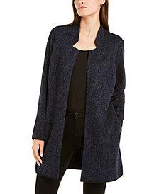Alfani Jacquard Open-Front Jacket, Created For Macy's