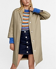 Leandra Medine Detachable Gilet Trench Coat