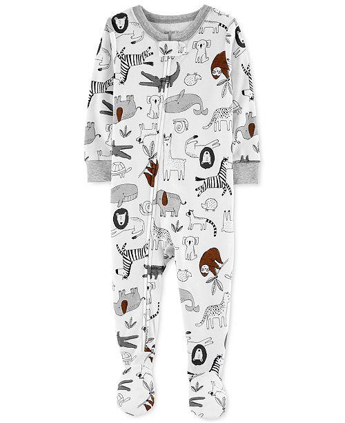 Carter's Baby Boys Animal-Print Snug-Fit Footed Pajamas