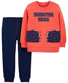 Toddler Boys 2-Pc. Monster Hugs Shirt & Pants Set