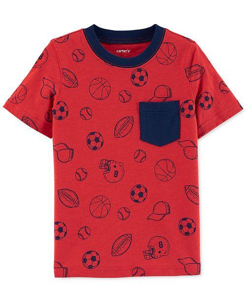 Carter's Toddler Boys Sports-Print Cotton T-Shirt