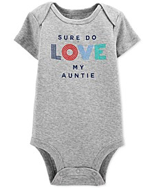 Baby Boys Cotton Love My Auntie Bodysuit