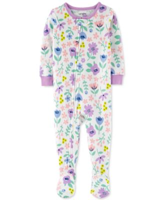 Baby Girls 12 /& 18 month NEW Carter/'s 1-Pc Love Dot-Print Footed Pajamas