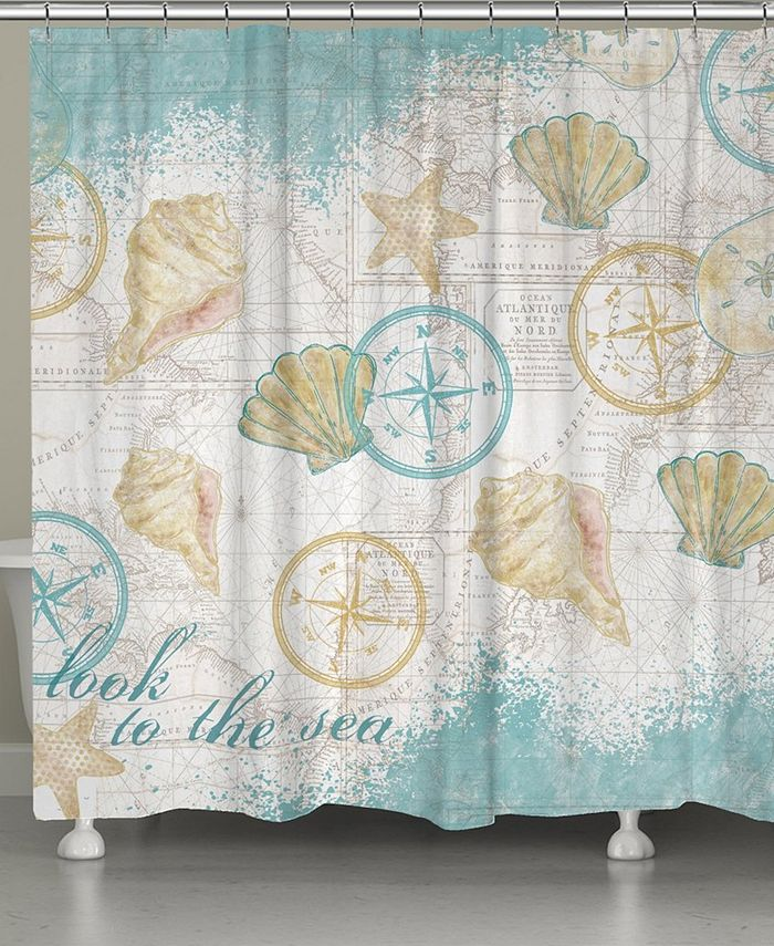 Laural Home - Look to the Sea Shower Curtain
