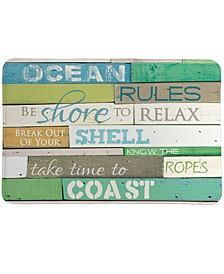 Ocean Rules Memory Foam Rug