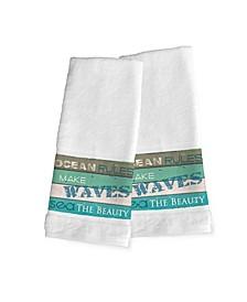 Ocean Rules 2-Pc.Hand Towel Set