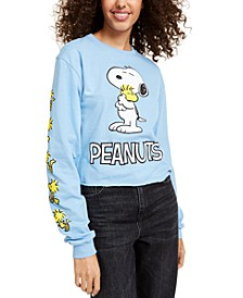 Peanuts Juniors' Snoopy Long-Sleeved Graphic T-Shirt by Mad Engine
