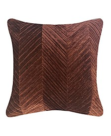 Edie @ Home Chevron Velvet Decorative Pillow