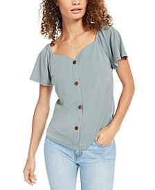 Petite Button-Front Top
