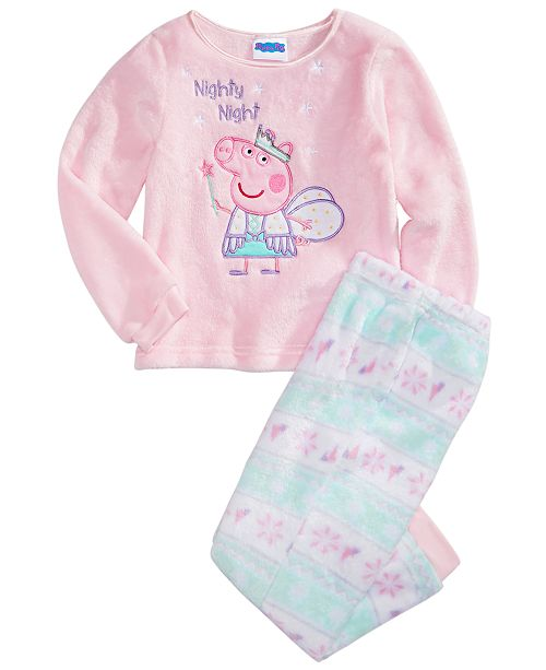 Peppa Pig Toddler Girls 2-Pc. Minky Fleece Pajamas Set