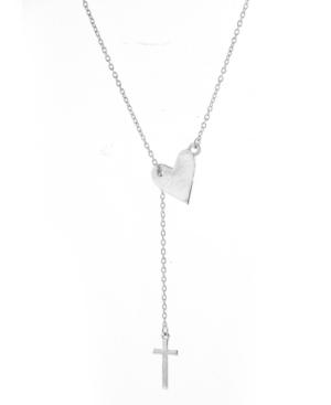 Heart Cross Lariat Necklace