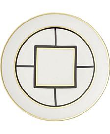 Metro Chic Salad Plate White Rim